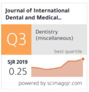 Contents Of 2019 Dental Issn 1309 100x Izzet Yavuz Jidmr Journal Medical Online Research Jidmr